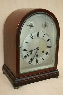ANTIQUE GUSTAV BECKER WESTMINSTER CHIME BRACKET CLOCK