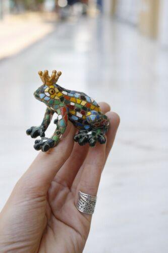 Mosaic Frog Prince Figurine, Mosaic Animals,Prince Charming, Frog Figurine,Frog