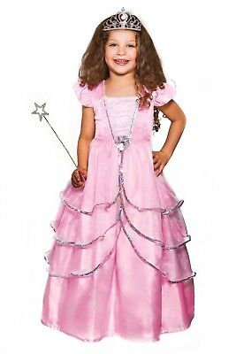 CRYSTAL PINK PRINCESS COSTUME 3PC SET X-Large 7-8 years