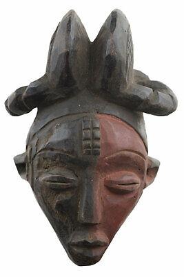 Masquette Punu Pounou Mask Pasport African Gabon 17 cm Art Primitive 16933