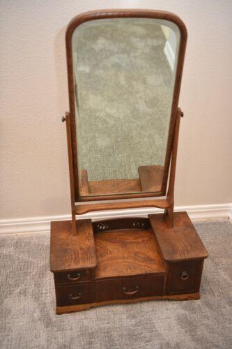 Japanese Antique Dressing Table Vanity Mirror Stand (Kyodai) w/Drawer Meiji Era