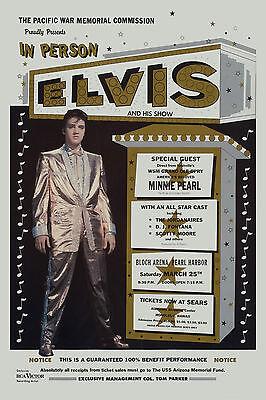 King of Rock: Elvis Presley in Hawaii Concert Poster 1961