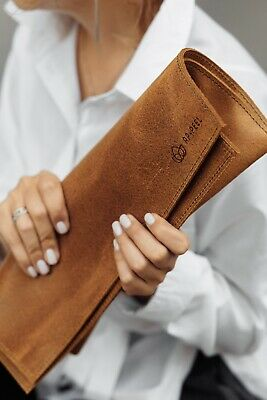 """Leather Laptop Sleeve / Case - Best for MacBook Pro 13"""", MacBook Air 13"""","""