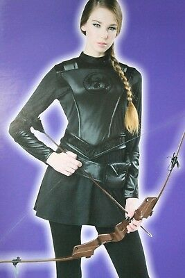 WOMENS LRG WARRIOR HUNTRESS HUNTER HALLOWEEN COSTUME HUNGER GAMES KATNISS - Womens Hunter Costume