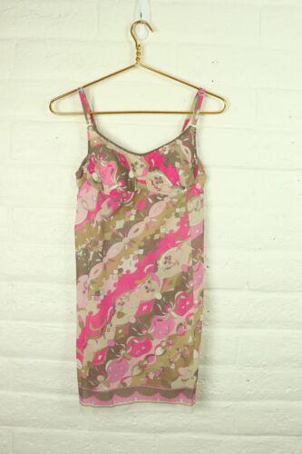 Vintage Psychedelic 1960s Emilio Pucci Designer Slip EPFR Lingerie Dress FormFit