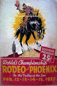 Phoenix-1927-Valley-of-the-Sun-VINTAGE-RODEO-POSTER