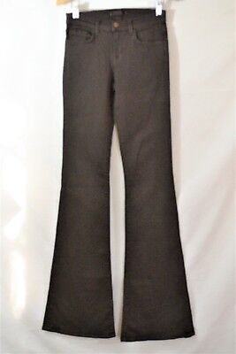 J Brand for Intermix 823 Suede Brown Flare Wide Leg Jeans Size 25 x 35 ()
