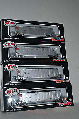 4 Atlas Cn Canadian National  Coal Gondolas With Loads Ho Scale