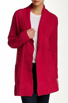 NEW Lucky Brand Plush Textured Robe Ladies S/M Lounge Sweater Red $68 RV Soft
