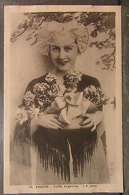 cpa 49 angers kopfschmuck anjou weiblich kostüm (Frankreich Kostüm Schmuck)