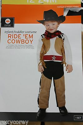 Halloween Infant Toddler Ride 'Em Cowboy Costume Size 12-24 months NWT