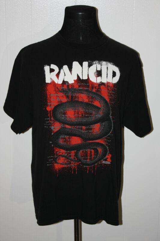 2007 Rancid Snake Machete Black Pullover Tee Shirt XL