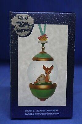 Disney Store 30th Anniversary Snowglobe Sketchbook Ornament Bambi & Thumper
