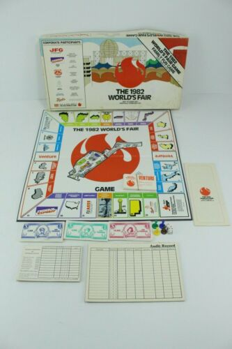 1982 Worlds Fair Board Game Knoxville TN Advertising Fed Ex Complete