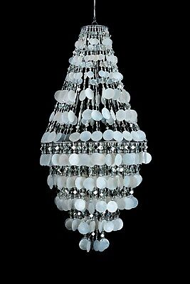 CAPIZ SHELL PENDANT CHANDELIER HANGING LIGHT NATURAL (Capiz Shell Chandeliers Hanging)