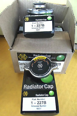 6 RADIATOR CAPS 227 B ,QUALITY MEETS OR SUPERSEDES LEADING BRAND BY TVS.