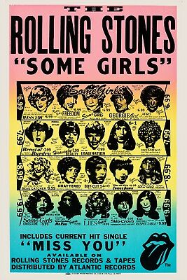The Rolling Stones * Some Girls * Album Promo Circa 1978 Poster 13x19