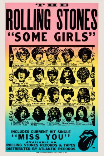 The Rolling Stones * Some Girls * Album Promo Circa 1978 Poster 13x19