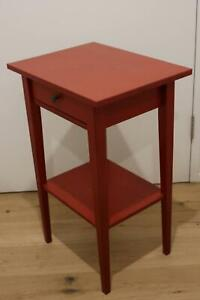 IKEA Hemnes Red Bedside Table - Perfect Condition