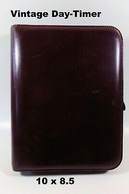 Day-timer Portfolio Day Planner Vintage 1994 Burgundy Red Leather Zippered Case