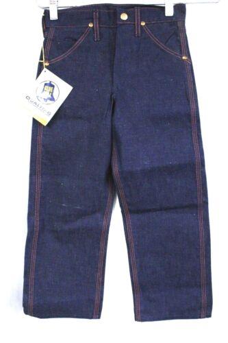 VTG Sanforized Cotton Jeans Blue Bell NOS Denim Dungarees Deadstock Boys 1950S