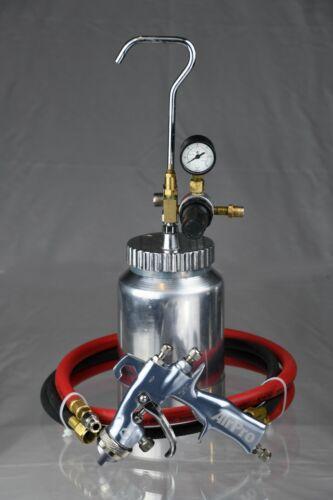 Graco AirPro HVLP Pressure Feed Spray Gun with 2 quart pressure pot