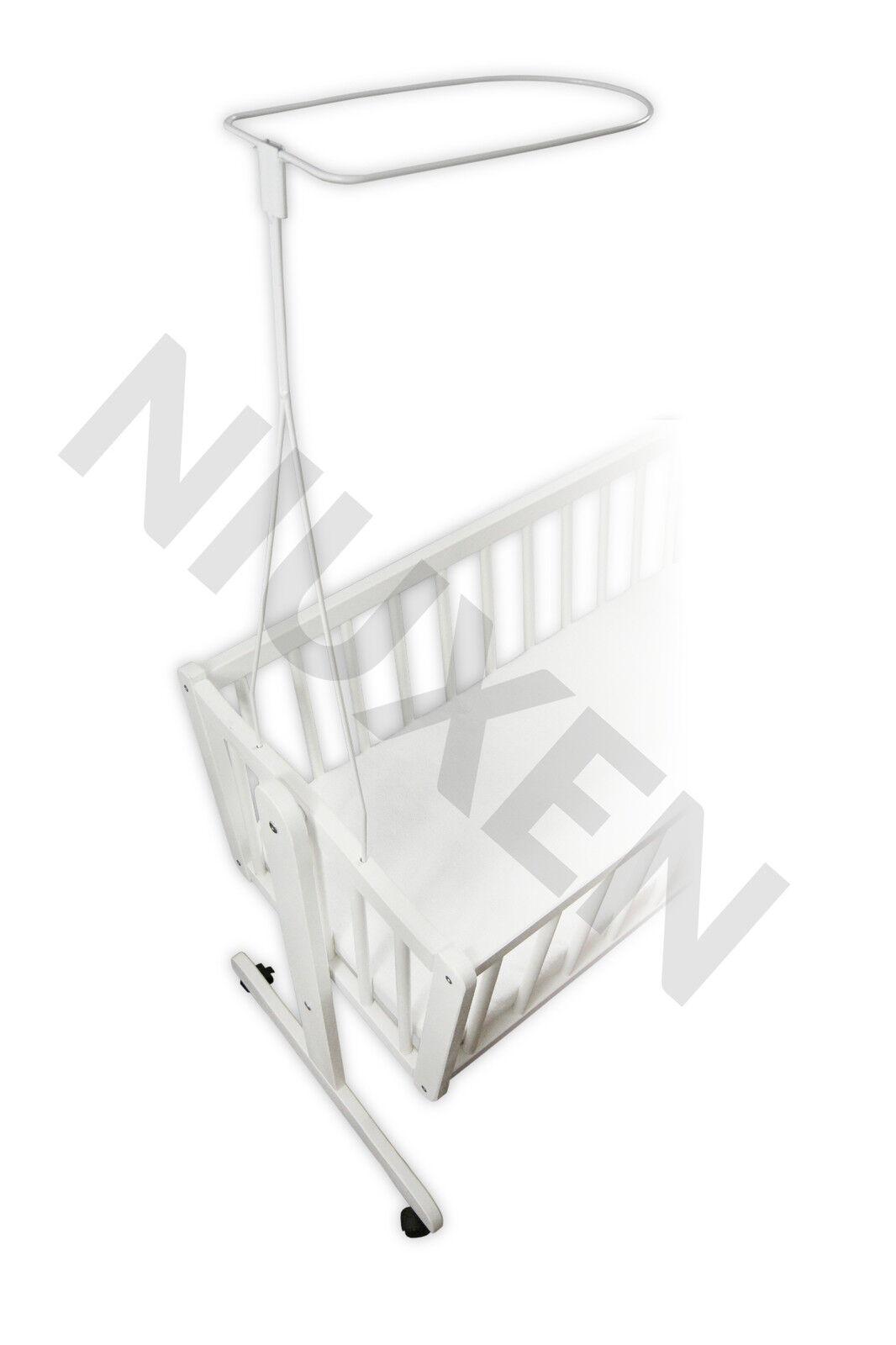 Himmelstange zum Einstecken für Wiege Bettset Weiß Neu EU-Produkt