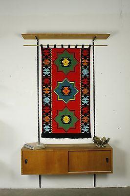Wandteppich Chimayo Indio Stil 60er Objekt 70er True Vintage 60s tapestry 70s