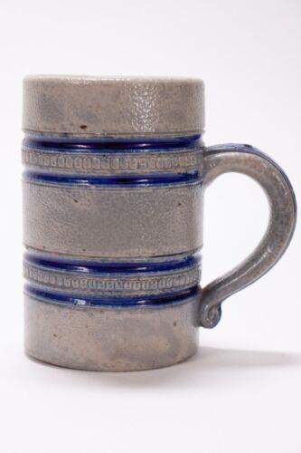 VINTAGE STONEWARE COBALT BANDED HAUSMANN BEER MUG CUP