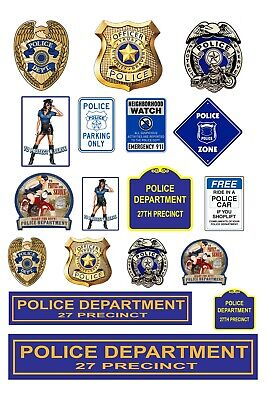 1:87 HO scale model police department -