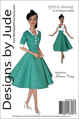 1950's Swing Doll Clothes Sewing Pattern 16