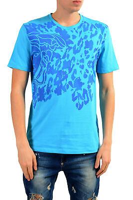 Versace Collection Men's Bright Blue Graphic Print T-Shirt Sz S M L XL 2XL