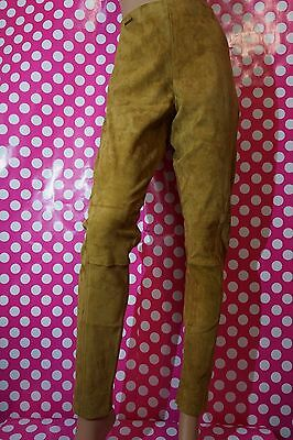 WOMAN'S POLO RALPH LAUREN LAMB LEATHER STRETCH SUEDE LEGGING SKINNY PANTS $998