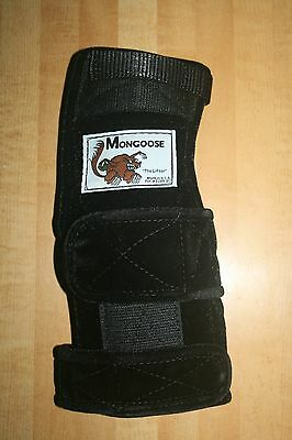 """Mongoose """"Lifter"""" Bowling Wrist band Support, LRL Right Hand,  Large, Black"""