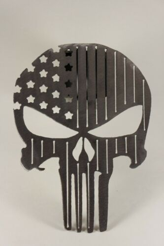 Punisher flag trailer hitch cover no paint