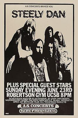 Steely Dan  at UC Santa Barbara Concert Poster 1974