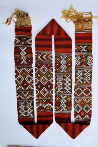 Belt textile weave antique oriental tribal Berber Moroccan Morocco 1900