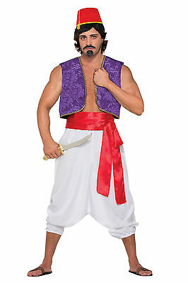 Men's Purple Genie Vest Aladdin Desert Prince Costume Accessory Size Standard