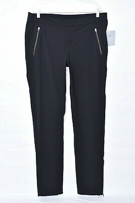 Athleta Wander Water Resistant Packable Black Skinny Pants Sz 16 Tall NWTS