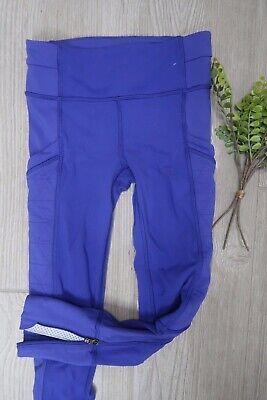 39*) Ivivva (lululemon For Kids) Purple Quilted North Star Detail Leggings (Northstar Kids)