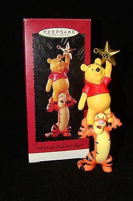 1995 Hallmark Keepsake Ornament Winnie the Pooh Tigger Christmas Star Friends