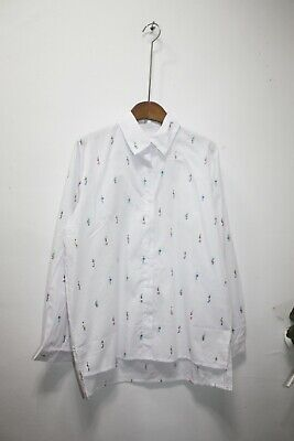 No.5 Womens clothing white button-up shirts,tops size XS~S
