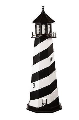 Wooden Outdoor Lighthouse Cape Hatteras Optional Lighting Yard Garden Landscape