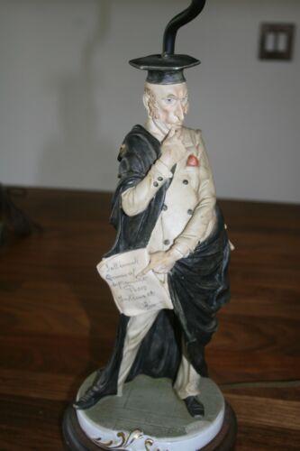 Vintage Figural Lamp Professor Teacher Lawyer Vanity Fair Bisque Porcelain