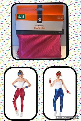 NWT Women's ADULT Pink Red Blue Shiny LEGGINGS HALLOWEEN COSTUME  S/M L/XL L](Target Halloween Costumes For Women)