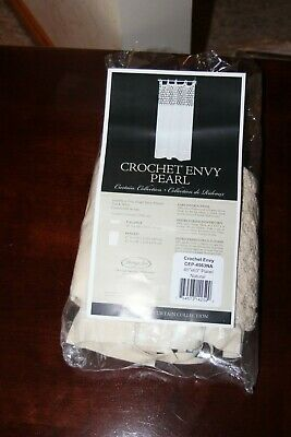 """Heritage Lace Crochet Envy Pearl 45"""" x 63"""" Panel NATURAL CEP-4563NA NEW"""