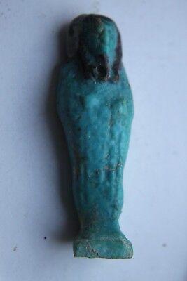 ANCIENT EGYPTIAN FAIENCE USHABTI 30th Dyn 380 BC