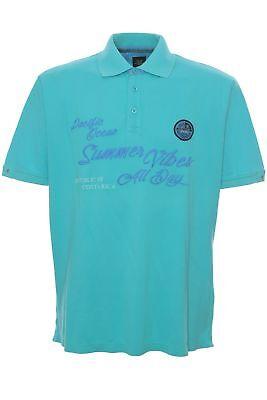 Kitaro Poloshirt Polo Shirt Hemd Herren Kurzarm Baumwolle Pique