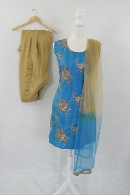 Punjabi Black Patiala Suits Ethnic Salwar Kameez Designer Readymade Women Kurtis for sale  Brentwood