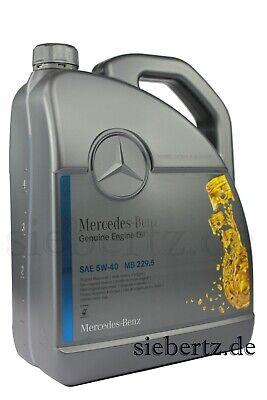 5 Liter Original Mercedes-Benz Motoröl 5W40 MB 229.5 5W-40 Motorenöl Engine Oil